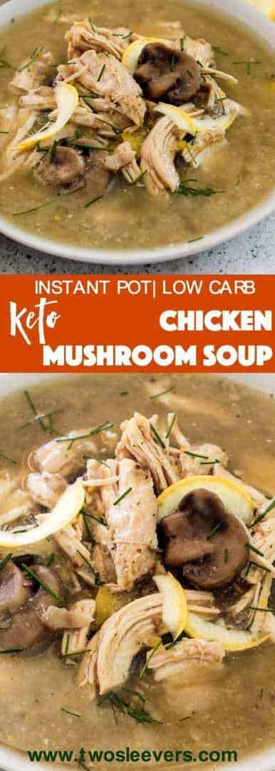 Pressure Cooker Low Carb Keto Chicken Mushroom soup recipe is one of those great comfort food recipes that requires you to do little beyond dump and cook in your Instant Pot or Pressure cooker.