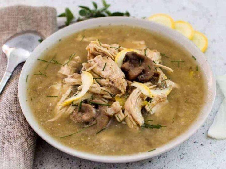 Instant Pot Chicken Mushroom Soup | Keto