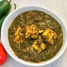 If you ever thought making Indian Palak Paneer or Spinach with Paneer was complicated, here's the recipe that will convince you otherwise. Delicious, nutritious, full-flavored, and super easy to make.