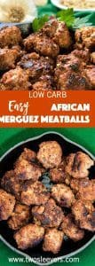 Here's a recipe for a Low Carb African Merguez sausage that is bursting with flavor but can be created from spices you probably already have. Fast, quick, delicious, and low carb, all while bringing in a new and different taste using familiar spices.