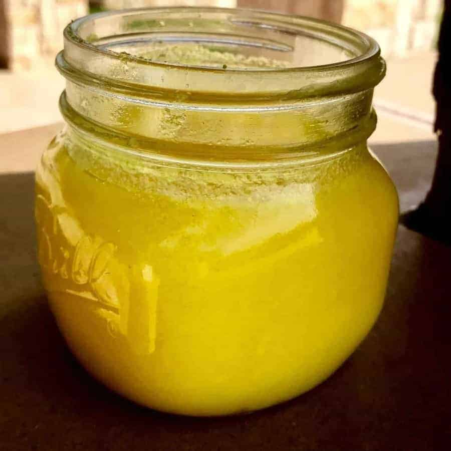 Niter kibbeh in a jar.