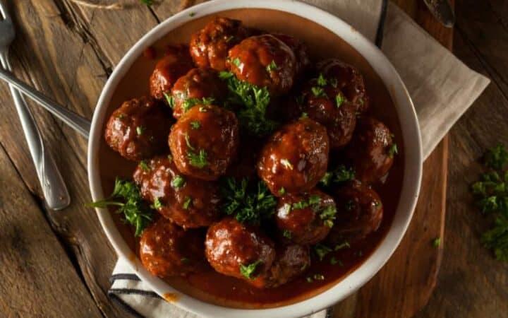 Cranberry Meatballs Wide