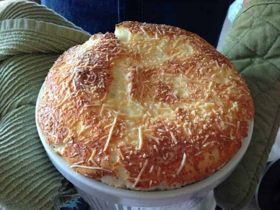 High Protein Cheese Souffle from www.twosleevers.com
