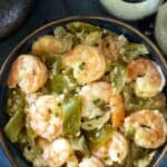 Shrimp with Cotija and Tomatillos