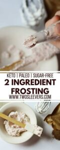 Two Ingredient Sugar-Free Icing