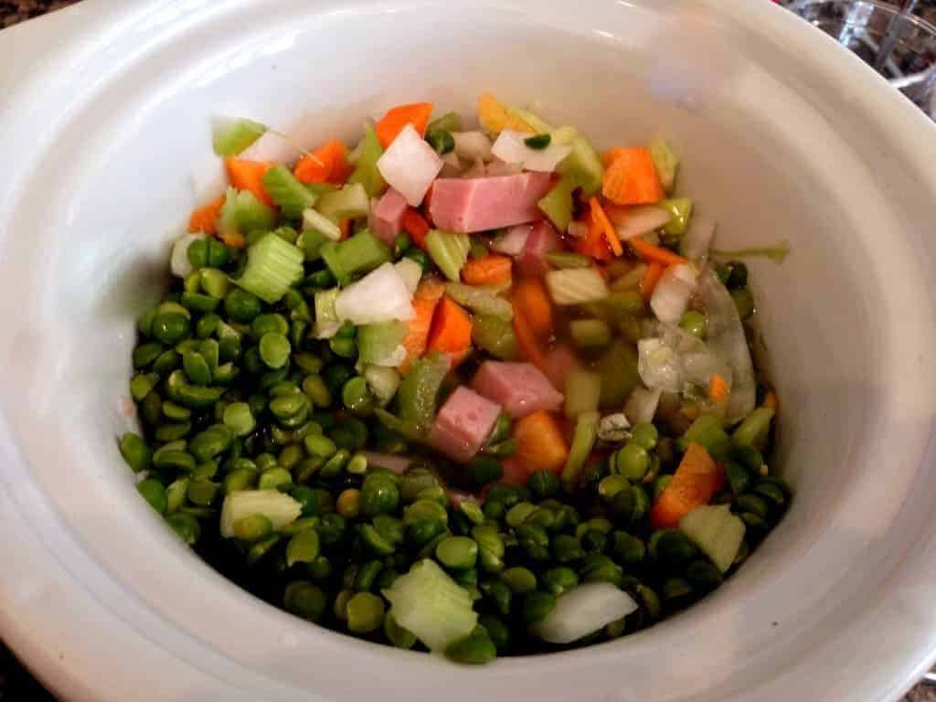 Crock pot split pea and ham and ham