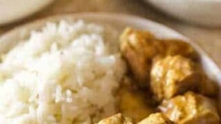 Thai Yellow Curry Baked Chicken Thighs