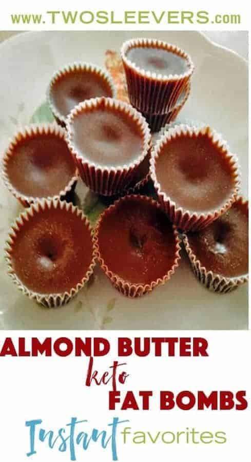 Almond Butter Chocolate Keto Fat Bombs