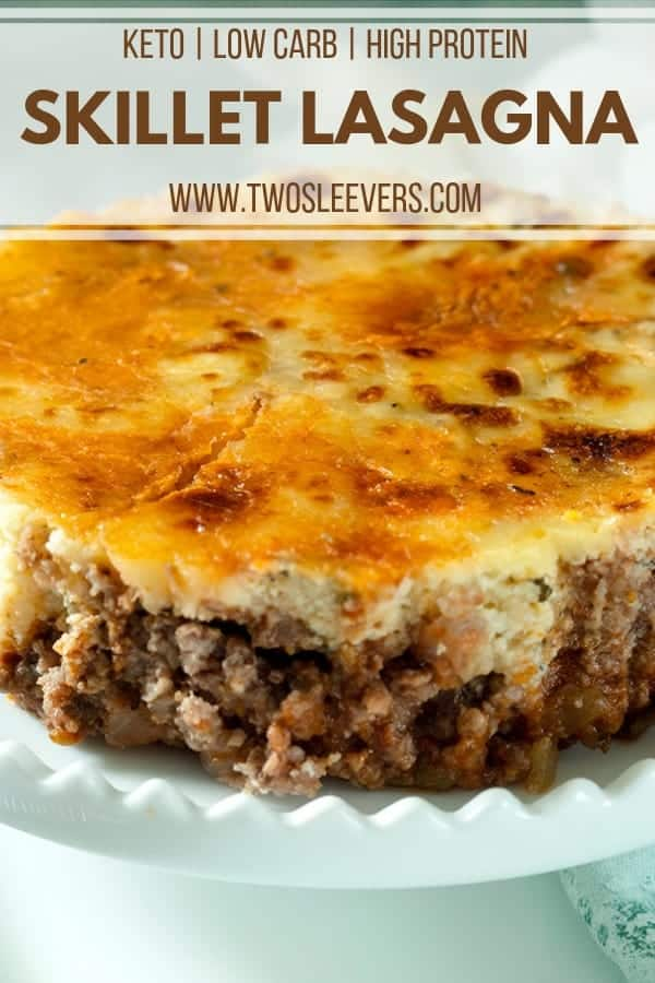 Low Carb Lasagna Pinterest