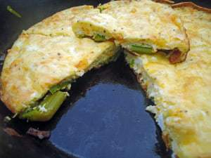 Guest Post: Erin's Asparagus and Swiss Cheese Frittata
