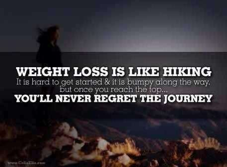 weightloss is like hiking