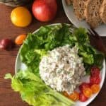 Very popular chicken salad recipe. You'll wonder if this will be bland and tasteless with just few ingredients, but I promise you, it won't. Super flavorful and extremely easy.