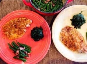 Low carb high protein Parmesan Tilapia