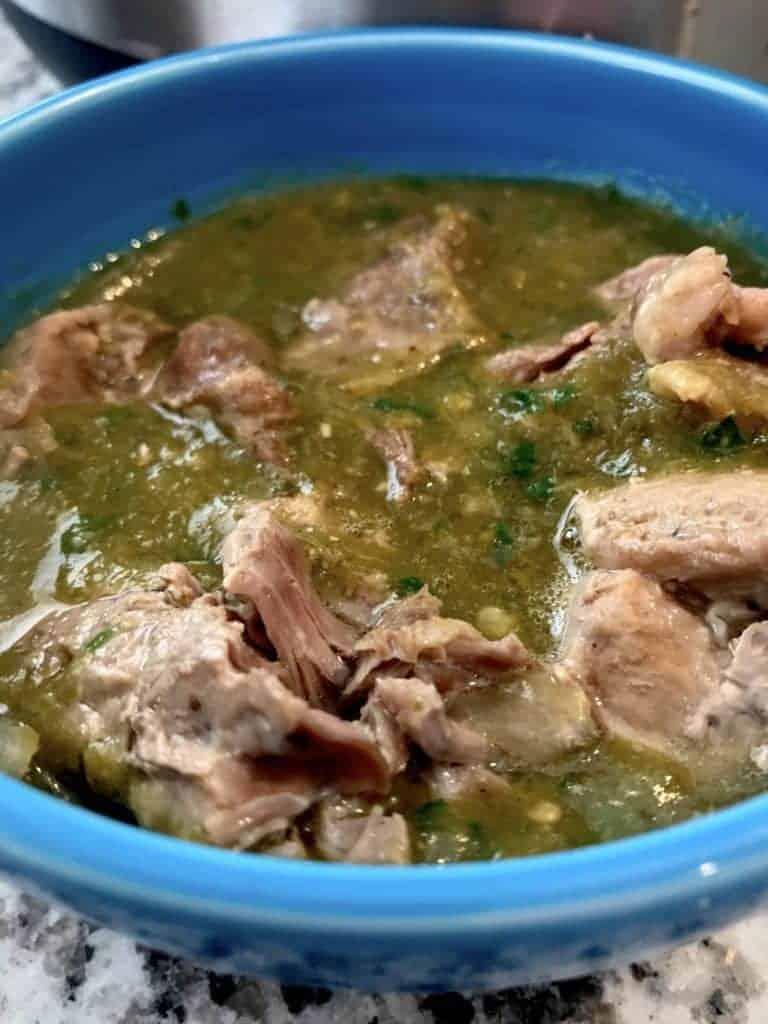 FullSizeRender 7 768x1024 - Pressure Cooker Pork Chile Verde - https://twosleevers.com