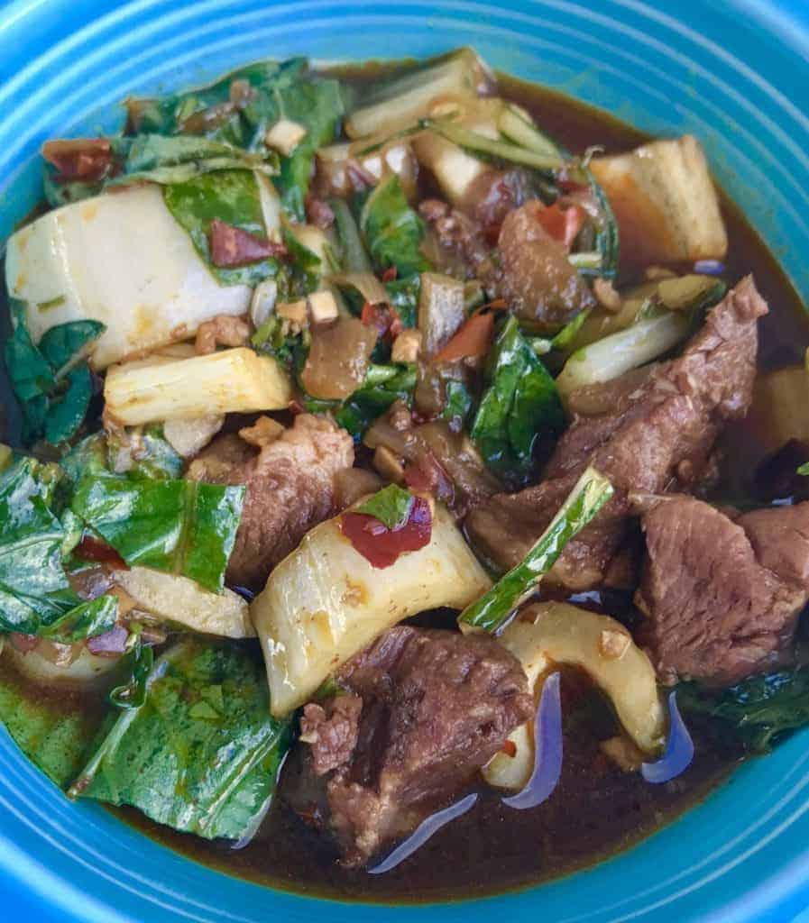 FullSizeRender 9 897x1024 - Low Carb Schezuan Pork Soup - https://twosleevers.com
