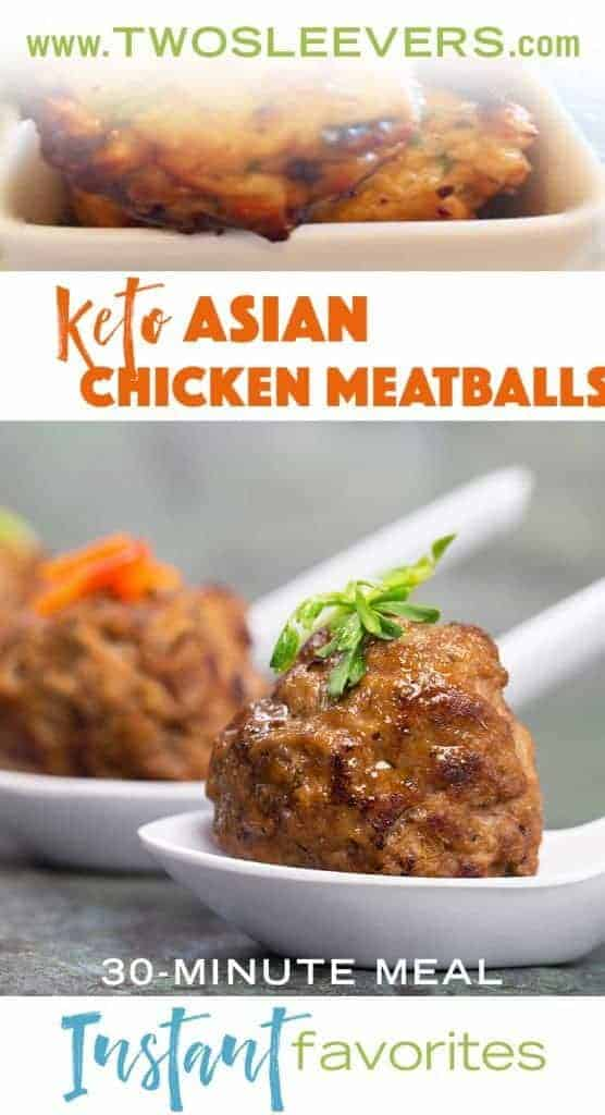 Low carb asian meatballs with coconut flour make a quick, healthy, low carb lunch that kids will love.