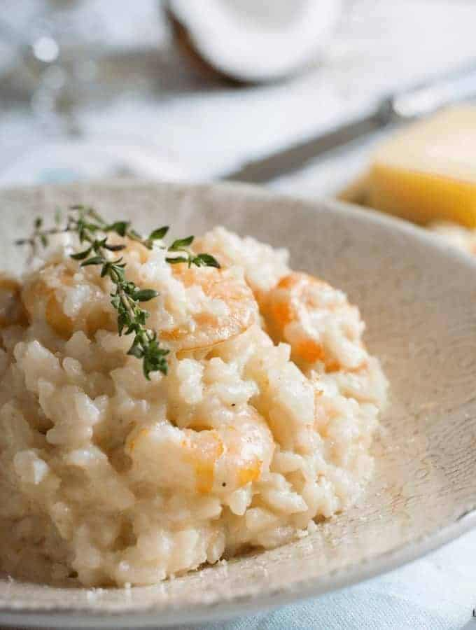 Pressure Cooker Shrimp Risotto
