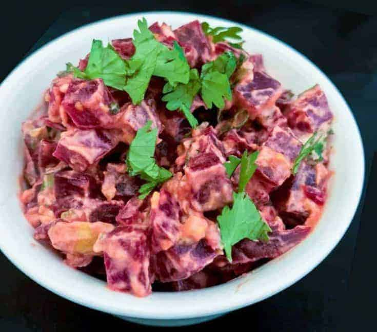Indian Beetroot Salad with Greek Yogurt