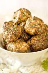 Air Fryer Low Carb Chicken Meatballs| Asian-Style Chicken Coconut Meatballs