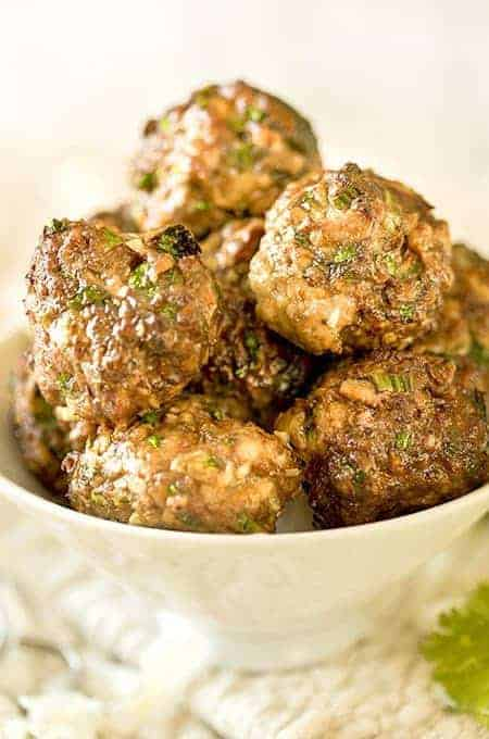 Keto Air Fryer Chicken Meatballs