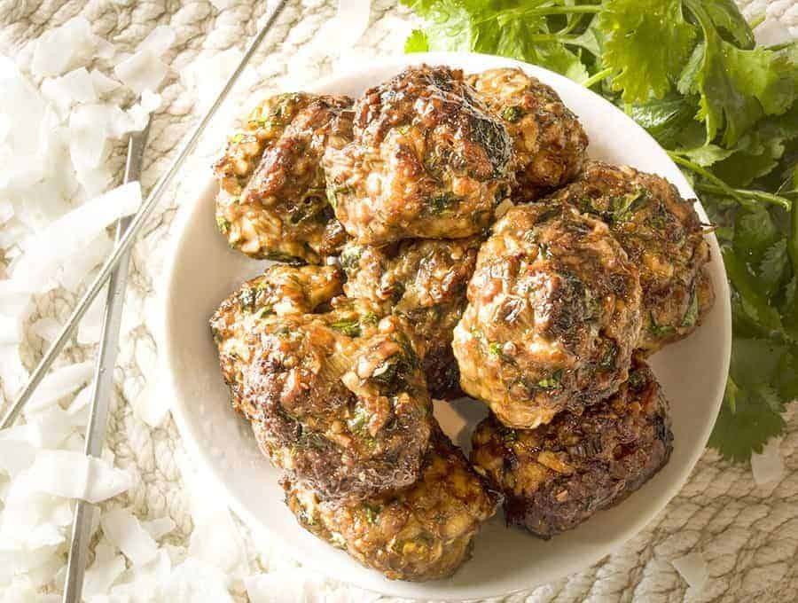 low carb chicken meatballs