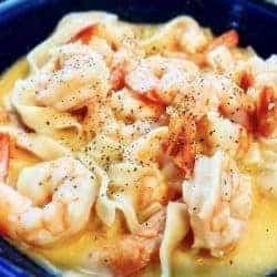 Easy Low Carb Keto Creamy Shrimp Scampi