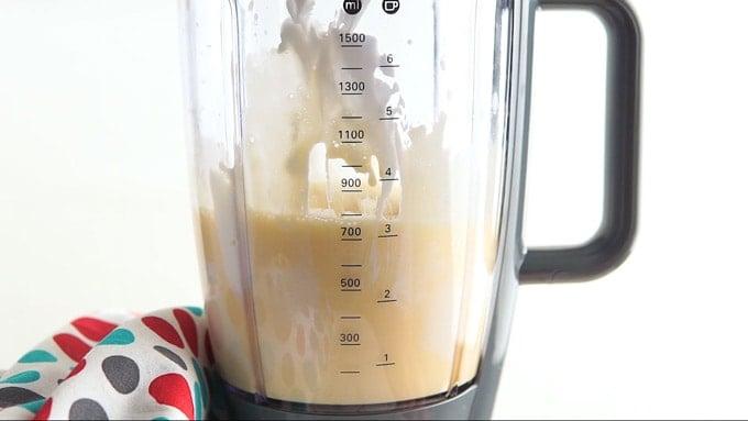 Eggs added to the blender