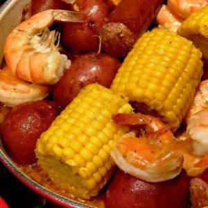 Pressure Cooker Cajun Shrimp & Sausage Boil