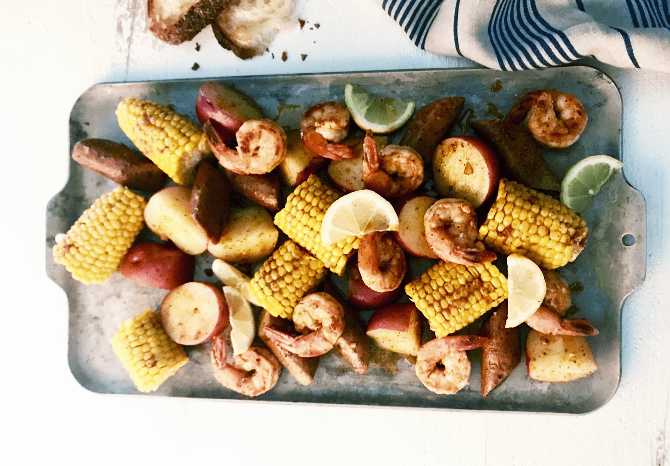 Cajun shrimp and sausage boil