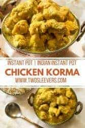 Instant pot chicken korma