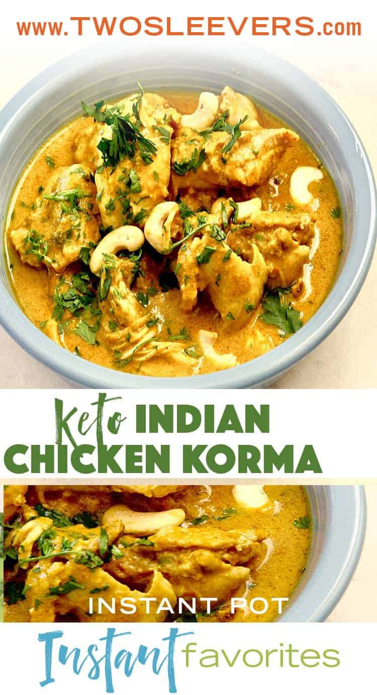 People have been asking for an Instant Pot Indian Chicken Korma recipe and I have wanted to make one.