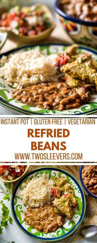 Instant Pot Refried Beans | Refried Beans Recipe | Instant Pot Beans Recipe | Instant Pot Beans | Instant Pot Mexican | Two Sleevers #refriedbeans #instantpotmexican