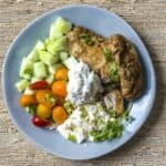 This is the best Chicken Shawarma recipe to make at home with just a few spice ingredients. Low carb, keto-friendly, Middle Eastern food made in your pressure cooker, oven, or airfryer.