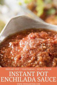 instant pot enchilada sauce