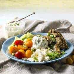 Simple but delicious Tzatziki recipe combines 5 simple ingredients to give you a sauce that's bursting with flavor, and perfect as a dip with just about everything.