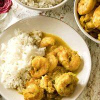 shrimp with coconut milk