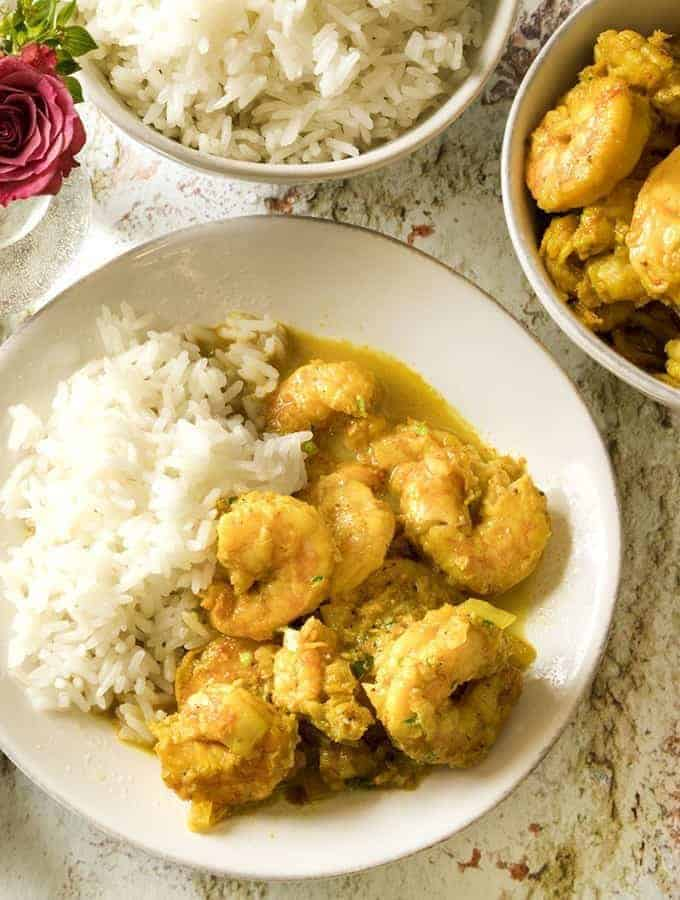 shrimp with coconut milk