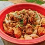 Instant Pot Dan Dan Style chicken combines the classic flavors of Dan Dan Mein into a low carb dish that's equally satisfying.