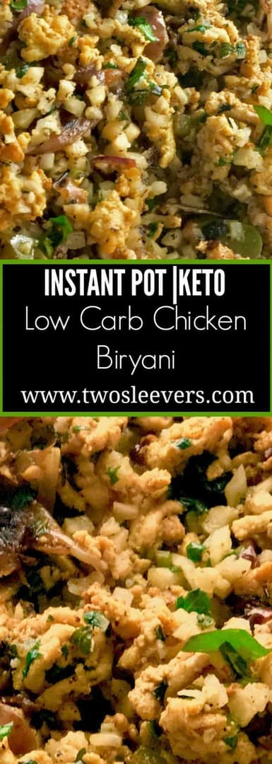 Low Carb Chicken Biryani is Low-Carb Indian Food at it's best. Cauliflower and ground chicken make up this spicy, delicious low carb recipe.