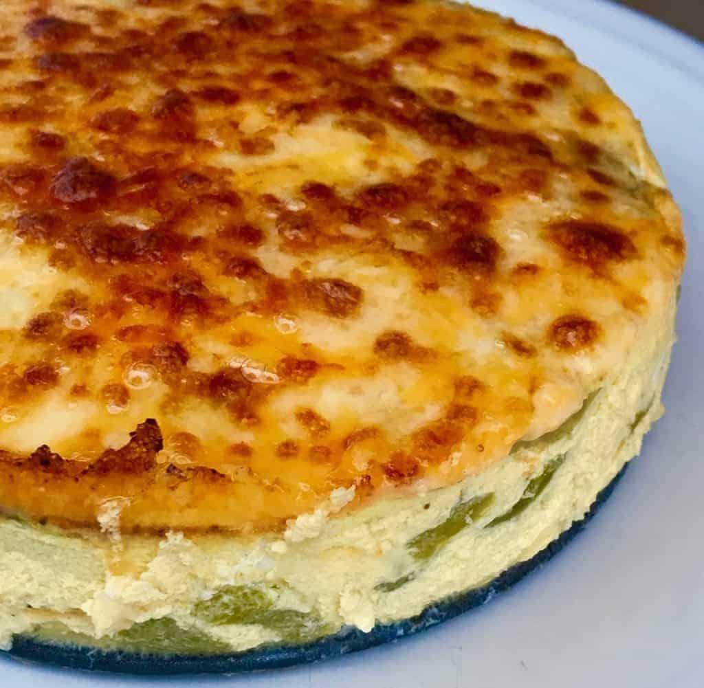 Keto Poblano cheese quiche 1024x1001 - Pressure Cooker Keto Poblano Cheese Quiche - https://twosleevers.com