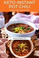 Keto Instant Pot Chili Authentic Chili In Less Than 30 Minutes