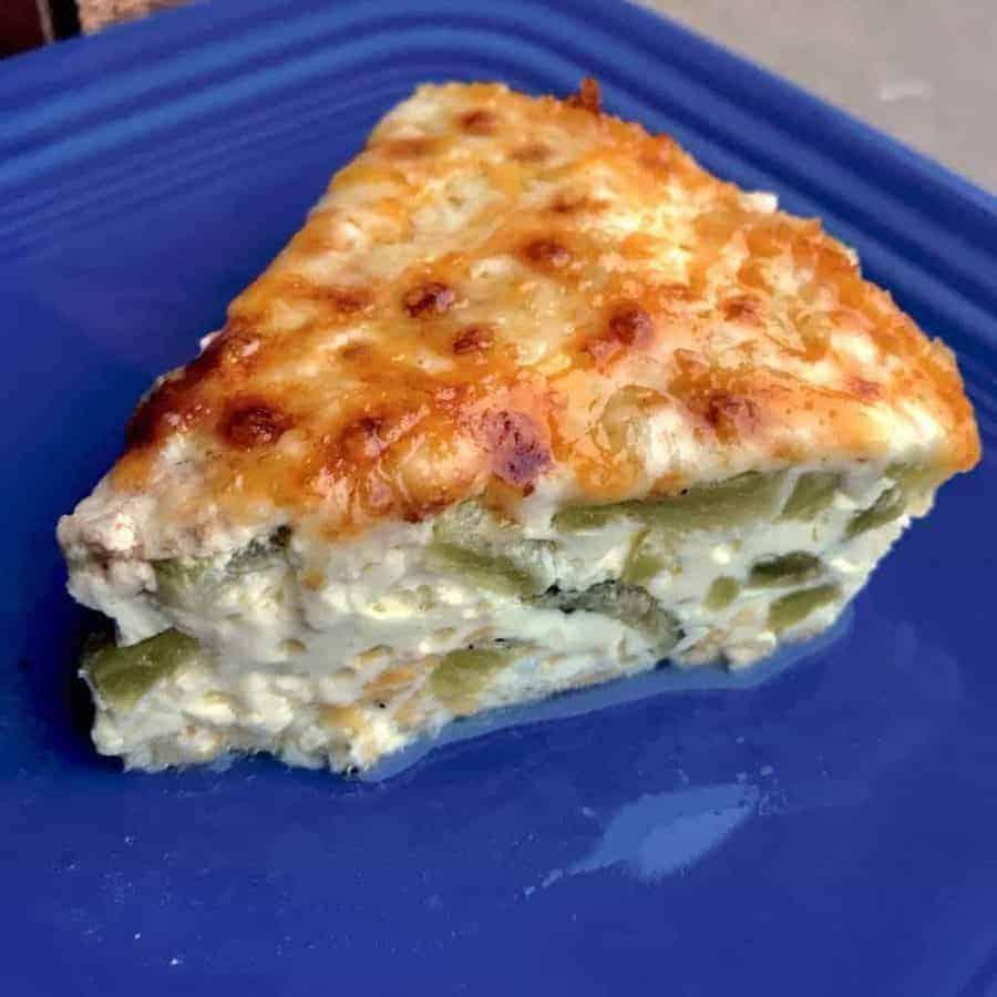 Keto poblano cheese quiche close up 1024x1024 - Pressure Cooker Keto Poblano Cheese Quiche - https://twosleevers.com