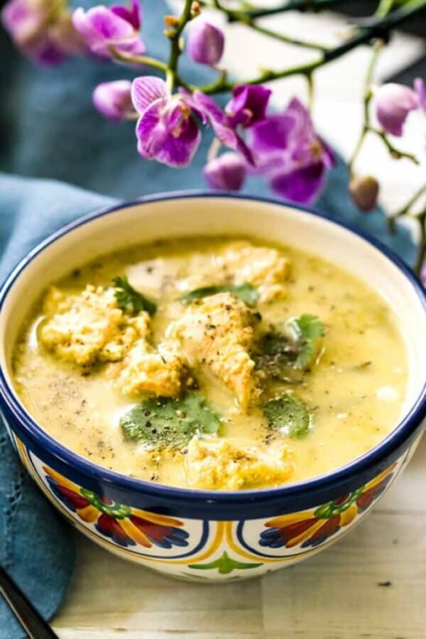 Poblano Chicken Soup