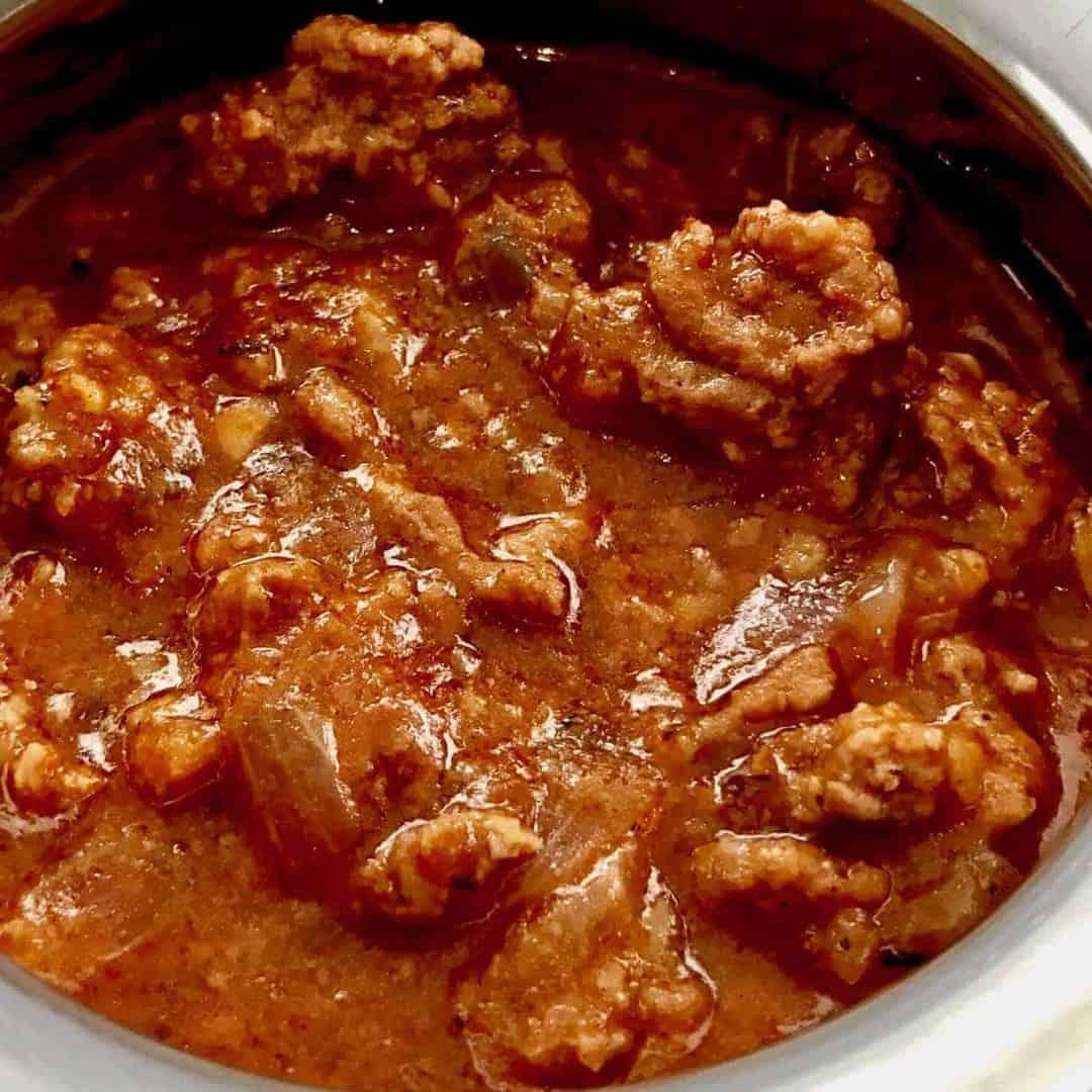 Instant Pot Chili Keto Texas Chili Two Sleevers