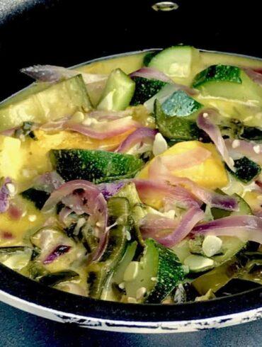 Mexican Style Poblano Zucchini