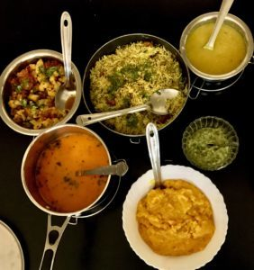 """India Day Two lunch. Still no """"curry"""" in sight."""