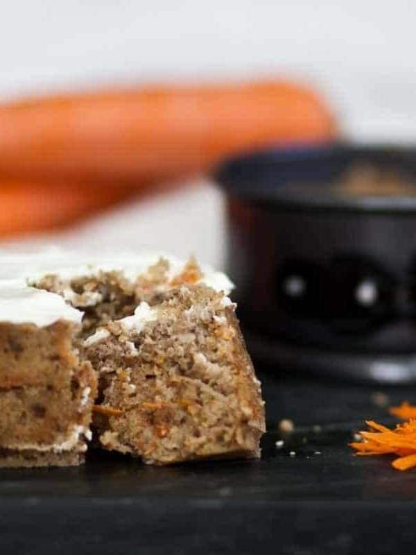 Make a Keto Gluten-Free Carrot Cake in your Instant Pot. Perfect for days you don't want to heat up your kitchen.