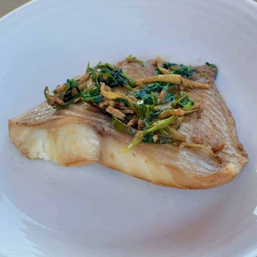 Instant pot chinese style steamed ginger scallion fish for Ginger fish recipe