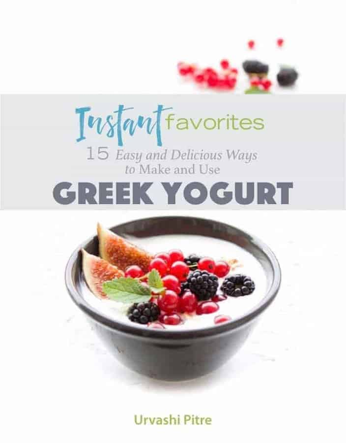 Greek yogurt cookbook cover - Instant Pot Vegetarian Gluten-Free Indian Black Eyed Peas with Spinach Lobia - https://twosleevers.com