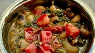 Pressure Cooker Indian Black Eyed Peas with Spinach